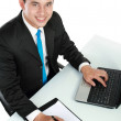 Young business man working — Stock Photo