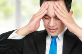 Close up man having stress — Stock Photo