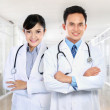 Male and female medical doctor — Stock Photo #11409223