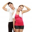 Man and woman stretching — Stock Photo #11409865