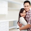 Happy couple at their new house — Stock Photo #11410331