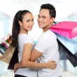 Young couple shopping - Stockfoto