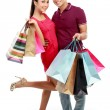 Man and woman with shopping bag — 图库照片