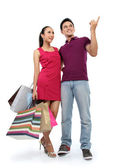 Young couple shopping — Stock Photo