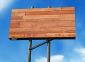 Wooden billboard — Stock Photo