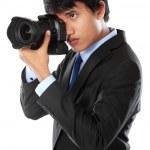 Photographer using dslr camera — Stock Photo #11804111