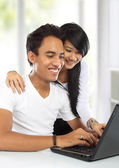 Young asian woman and man — Stock Photo