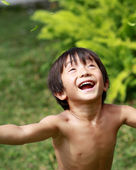 Boy having fun — Stock Photo