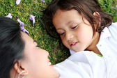 Cheerful child with mother — Stock Photo