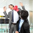 Businessmen fighting — Stock Photo