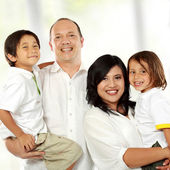 Family happy together — Stock Photo