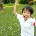 Running little boy — Stock Photo