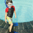 Kid ready to swim — Stock Photo