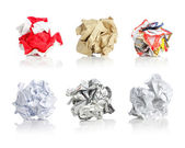 Crumpled papers — Stock Photo