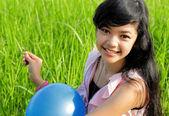 Krásná mladá dívka — Stock fotografie