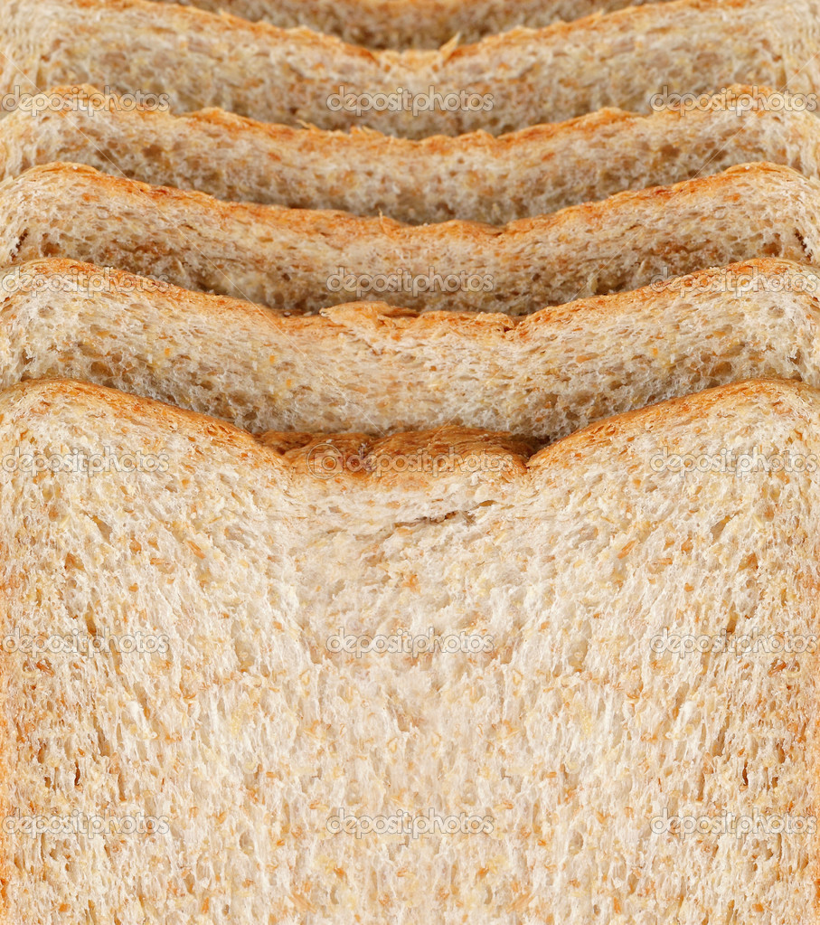 Some slice of bread for breakfast — Stock Photo #12141094