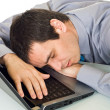 Businessman sleeping — Stock Photo