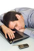 Uomo d'affari dormendo — Foto Stock