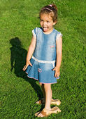 顽皮的小女孩 — 图库照片