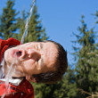 Man drinking fresh water — Stock Photo