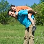 父亲和他的儿子 — 图库照片