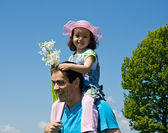 Little girl with her father — Stock Photo