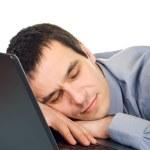 Businessman sleeping — Stock Photo
