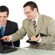 Businessmen working on the laptop — Stock Photo