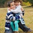 Happy children embracing to each other — Stock Photo