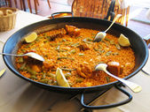 Valencian paella — Stock Photo