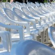 Empty white chairs — Stock Photo #10978064