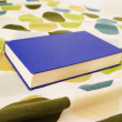 Blue book on bed — Stock Photo #11140802