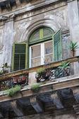 Grünen balkon — Stockfoto