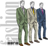 Sketch of fashion handsome man. Vector illustration — Stock Vector