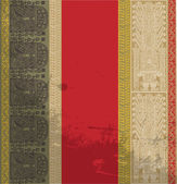 Grunge inca pattern. Vector illustration — Stock Vector
