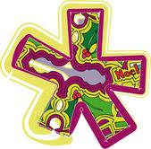 Christmas hand drawn symbol. Vector illustration — Stock Vector