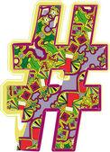 Símbolo dibujado de la mano de navidad. ilustración vectorial — Vector de stock