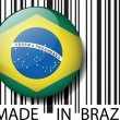 Made in Brazil barcode. Vector illustration — Stock Vector #11573785