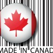 Royalty-Free Stock Vector Image: Made in Canada barcode. Vector illustration