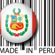 Made in Peru barcode. Vector illustration — Stock Vector