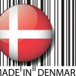 Made in Denmark barcode. Vector illustration — Stock Vector