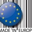 Made in Europe barcode. Vector illustration — Stock Vector #11573900