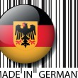 Stock Vector: Made in Germany barcode. Vector illustration