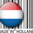 Made in Holland barcode. Vector illustration — Stock Vector