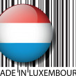Made in Luxembourg barcode. Vector illustration — Stock Vector