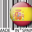 Made in Spain barcode. Vector illustration — Stock Vector #11574090