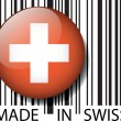 Made in Swiss barcode. Vector illustration — Stock Vector #11574104