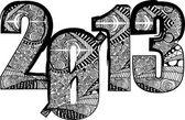 Feliz año nuevo 2013. ilustración vectorial — Vector de stock
