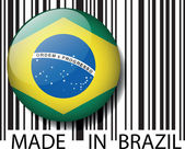 Made in Brazil barcode. Vector illustration — Stock Vector