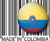 Made in Colombia barcode. Vector illustration — Stock Vector